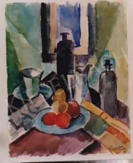 Kmetty János - Csendélet, 28,5x22 cm, akvarell, papír, Jelezve jobbra lent: Kmetty, Fotó: Kieselbach Tamás