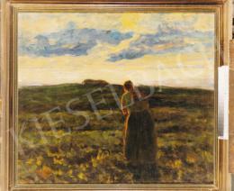 Koszta, József - Twillight, 1904, 88x99 cm, oil on canvas, Signed lower left: Koszta J. 1904, Photo: Tamás Kieselbach