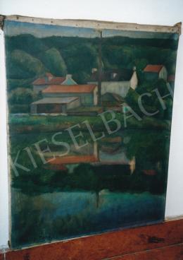 Czigány Dezső - Párizs környéki táj, 1935 körül, 66x53 cm, olaj, vászon, Jelezve balra lent: Czigány Paris, Fotó: Kieselbach Tamás