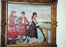 Csók István - Pirosruhás lányok, olaj, vászon, Jelezve jobbra lent: Csók I. 1917, Fotó: Kieselbach Tamás