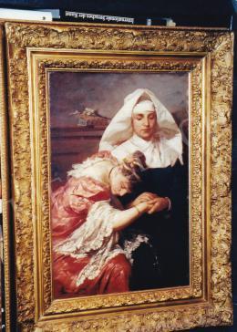 Benczúr, Gyula - Adulterous Woman, 1886, oil on canvas, Signed lower left: Benczúr Gyula, Budapest, 1886, Photo: Tamás Kieselbach