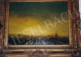 Mednyánszky László - Alkonyi táj, 150x200 cm, olaj, vászon, Jelezve jobbra lent: Mednyánszky, Fotó: Kieselbach Tamás