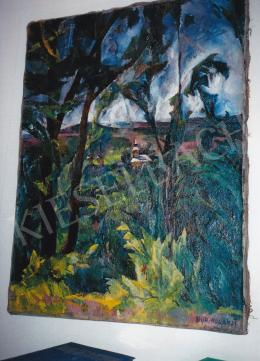 Aba-Novák, Vilmos - Felsőbánya, 1925, 121x92 cm, oil on canvas, Signed lower right: Aba Novák 25, Photo: Tamás Kieselbach