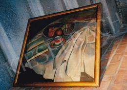 Bornemisza Géza - Piros csészés csendélet, 1919, 51.5x57 cm, olaj, vászon, Jelezve jobbra lent: Bornemisza Géza 1919, Fotó: Kieselbach Tamás
