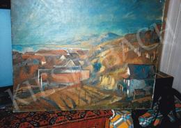 Szőnyi István - Látkép házakkal, olaj, vászon, Jelezve balra lent: Szőnyi I., Fotó: Kieselbach Tamás