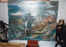 Szőnyi István - Zebegényi látkép, olaj, vászon, Jelezve jobbra lent: Szőnyi I., Fotó: Kieselbach Tamás