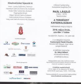 Paál László - Paál László - A természet katedrálisában című kiállítás meghívója