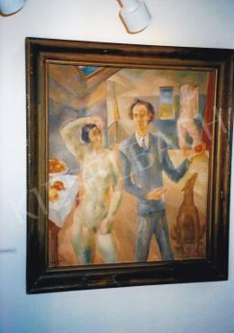 Paizs-Goebel Jenő - Műtermi csendélet Madonna-szoborral, 1929, olaj, vászon, Jelezve balra lent: Paizs Goebel 929, magántulajdon, Fotó: Kieselbach Tamás