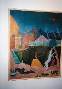 Paizs-Goebel Jenő - Élet, 1932, olaj, vászon, 97x75 cm, Jelezve jobbra lent: Paizs Goebel 932., Magántulajdon, Fotó: Kieselbach Tamás