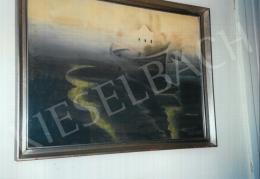 Gyenes Gitta - Csónak a tavon; tempera, karton; Fotó: Kieselbach Tamás