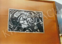 Bortnyik Sándor - Cirkusz; ceruza, papír; Jelezve jobbra lent: B; Fotó: Kieselbach Tamás