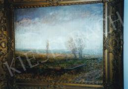 Mednyánszky László - Tájkép; olaj, vászon; Jelezve jobbra lent: Mednyánszky; Fotó: Kieselbach Tamás