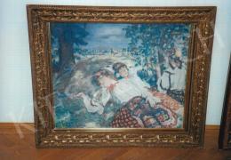 Csók István - Pihenő sokácok; 77x94,5 cm; olaj, vászon; Jelezve balra lent: Csók I.; Fotó: Kieselbach Tamás