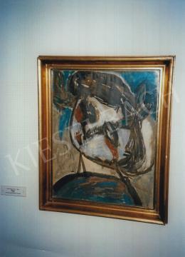 Anna Margit - Önarckép; tempera, papír; Fotó: Kieselbach Tamás