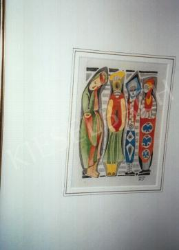 Kádár Béla - Négy alak; akvarell, papír; Jelezve jobbra lent: Kádár Béla; Fotó: Kieselbach Tamás