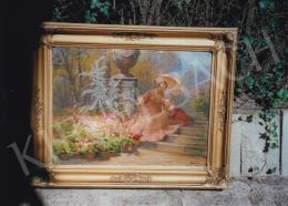 Gergely Imre - Lányok a kertben; olaj, vászon; Jelezve jobbra lent: Gergely Imre; Fotó: Kieselbach Tamás