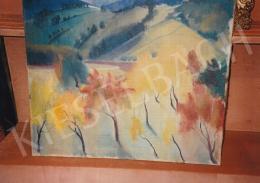 Szőnyi István - Zebegény ősszel, 1928 körül; 60 x 70 cm; olaj, vászon; Jelzés nélkül; Fotó: Kieselbach Tamás