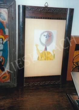 Anna Margit - Sárga ruhás, 1947; 13x10 cm; olaj, papír; Jelzés nélkül; Fotó: Kieselbach Tamás