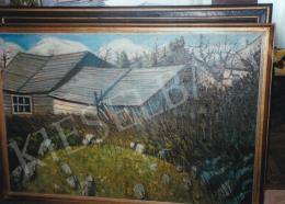 Nagy István - Hátsóudvar, 1911; olaj, vászon; Jelzés jobbra lent: Nagy István; Fotó: Kieselbach Tamás