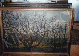 Nagy István - Kopasz fák házakkal; 1911; olaj, vászon; Jelzés jobbra lent: Nagy István 1911; Fotó: Kieselbach Tamás