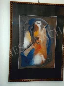 Kádár Béla - Nő gitárral; 69x48,5 cm; tempera, papír; Jelezve jobbra lent: Kádár Béla; Fotó: Kieselbach Tamás