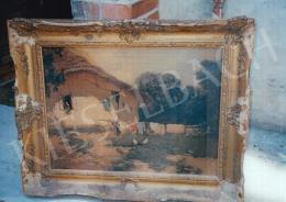 Neogrády, László - Village Scene; oil on canvas; Signed lower left: Neogrády László; Photo: Kieselbach Tamás