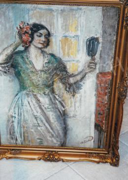 Márk Lajos - Nő tükörrel; Jelezve jobbra lent: Márk; Fotó: Kieselbach Tamás