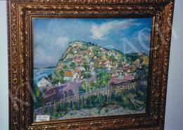Csók István - Domboldal házakkal; olaj, vászon; Jelezve jobbra lent; Fotó: Kieselbach Tamás