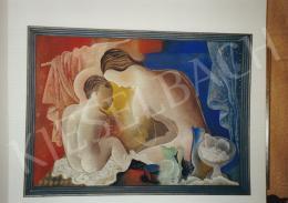 Kádár Béla - Anya gyermekével, 1930-1935 között; 71x100 cm; tempera, papír; Jelezve jobbra lent: Kádár Béla; Fotó: Kieselbach Tamás