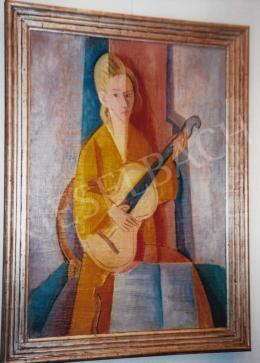 Kmetty János - Önarckép hangszerrel; Fotó: Kieselbach Tamás