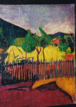 Bornemisza Géza - Kilátás a hegyre, 1910 körül, olaj, vászon, 42,5x46,5 cm, Jelzés nélkül, Magántulajdon, Fotó: Kieselbach Tamás