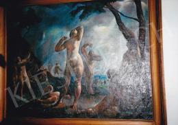 Patkó Károly - Száműzöttek, olaj, vászon, Jelezve balra lent: Patkó, Fotó: Kieselbach Tamás