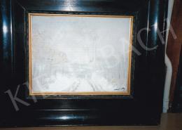Mednyánszky László - Havas látkép gyárkéménnyel, Jelezve jobbra lent: Mednyánszky, Fotó: Kieselbach Tamás
