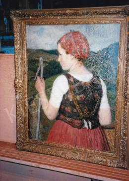 Glatz, Oszkár - Young Girl, oil on canvas, Signed lower left: Glatz 1947, Photo: Tamás Kieselbach