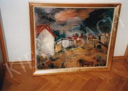 Iványi Grünwald, Béla - Red Roofs; oil on canvas; Signed lower left; Photo: Kieselbach Tamás