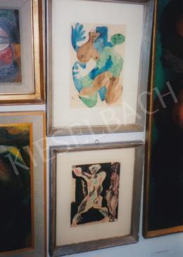 Bán Béla - Fent: Szex, 1946; toll, akvarell, papír; 30,5x21,4 cm; Jelezve jobbra lent: B.B. 946 VI.; Deák Gyűjtemény része