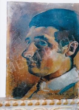 Aba-Novák, Vilmos - Portrait of a Man, 35,5x21 cm, oil on cardboard, Signed lower right: Aba Novák 21, Photo: Tamás Kieselbach