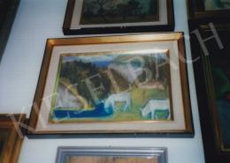 Nagy István - Legelő tehenek, 1933; pasztell, papír; 31,4 x 44,5 cm; Jelezve jobbra lent: Nagy István; Deák Gyűjtemény kiállításán; Fotó: Kieselbach Tamás