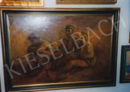 Mednyánszky László - Hadifoglyok, 1914; olaj, vászon; 66,2 x 98 cm; Jelezve jobbra lent: Mednyánszky 1914; Deák Gyűjtemény kiállítása; Fotó: Kieselbach Tamás