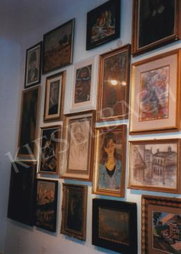 Scheiber, Hugó - Deák Collection's Exhibition at Székesfehérvár; Second upper line, middle: Head (Self-Portrait); c. 1932; paper, mixed media; 46,5 x 34,8 cm; Signed lower left: Scheiber H.; Photo: Kieselbach Tamás