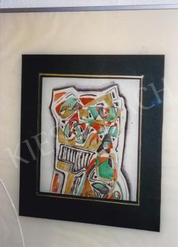 Kádár Béla - Játékos formák; 21,5 x 19 cm; vegyes technika, papír; Jelezve középen lent: Kádár Béla; Fotó: Kieselbach Tamás
