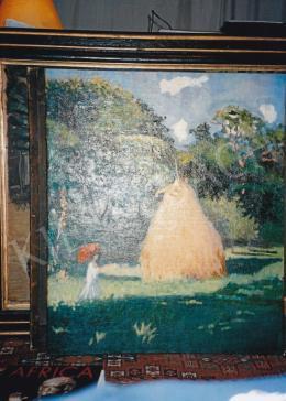 Boromisza Tibor - Napsütéses táj, 1905, olaj, vászon, 104x88 cm, Hátoldalon: Boromisza kézírásával: