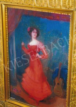 Herrer Cézár - Spanyol táncosnő, 1916; 53x35 cm; olaj, vászon; Jelezve jobbra lent: Herrer C. 1916; Fotó: Kieselbach Tamás