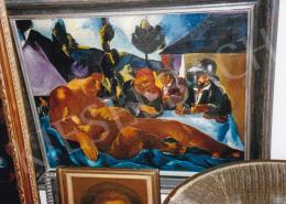 Jándi Dávid - Akt a szabadban; olaj, vászon; Fotó: Kieselbach Tamás