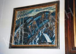 Nagy István - Havas dombok; pasztell, papír; Jelezve jobbra lent: Nagy I.; Fotó: Kieselbach Tamás