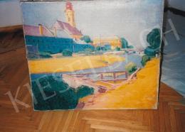 Pechán József - Folyóparton; olaj, vászon; Jelezve jobbra lent; Fotó: Kieselbach Tamás