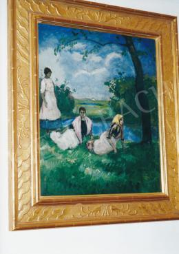 Iványi Grünwald, Béla - Girls on the Field, early 1910's, 70,5x60,5 cm, oil on cardboard, Signed lower right: Grünwald Béla, Photo: Tamás Kieselbach
