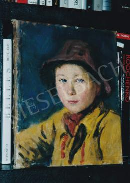 Glatz, Oszkár - Portrait of a Boy, oil on canvas, Signed middle left: Glatz, Photo: Tamás Kieselbach