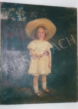 Zemplényi Tivadar - Kislány virággal; olaj, vászon; Fotó: Kieselbach Tamás