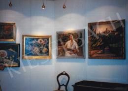 Vaszary János - Vaszary János, Márffy Ödön és más művészek festményei a Szakasits Művelődési Központban, az 1993-as aukciós kiállításon; Fotó: Kieselbach Tamás